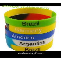 Quality Cheap wholesale custom silicone wristband/bracelet 190*12*2mm any color for sale