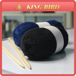 China Blue handknitting Acrylic Knitting yarn crochet ball High Strength on sale