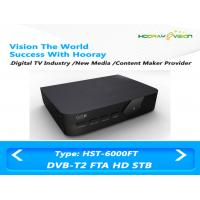 Wholesale FTA FULL HD DVB T2 Digital Set Top Box With USB Media Bandwidth Playback 6 / 7 / 8MHz from china suppliers