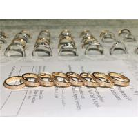 China Sophisticated 18K Gold Diamond Ring , Customized Cartier Love Wedding Ring wholesale