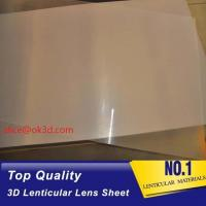 China UV flatbed print material  0.18mm 200 Lpi, 51x71cm  3D Film Lenticular Lens Sheet for UV offset printer annd injekt prin wholesale