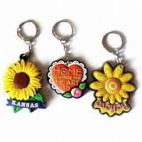 China PVC keychain in 3-D shape, eco-friendly material, customized colors and shapes are accepted wholesale