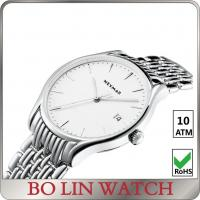 China Eco Friendly Day / Date Stainless Steel Men Watches Water Resistant With Big Face wholesale