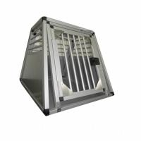 Quality Household Aluminum Dog Cage for Car / Pet Grooming Cage Carrying Case for sale