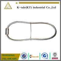 China rigging wire rope sling  stainles steel wire rope sling with ferrule and iron wire made in china wholesale