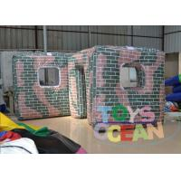 China Outdoor Speedball Inflatable Bunkers / Inflatable Paintball Obstacles For Rental wholesale
