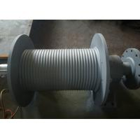 China SS355 Material Grooved Winch Drum , Wire Rope Hoist Drum Design Customized on sale