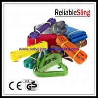 CE GS Approved Polyester Duplex Flat Webbing Sling for Lifting , Eye to Eye Sling