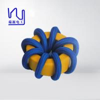 China 2 - 4000 Strands High Frequency Copper Litz Wire Blue Color Wrapped Teflon Insulation wholesale