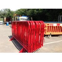 PVC Coated Crowd Control Barriers Inner Pipe 18 MM OD With Bridge Feet