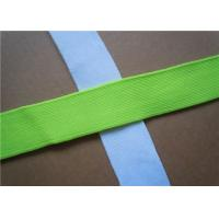 Quality Blue Plain Woven Jacquard Ribbon Elastic , Decorative Trim Ribbon for sale