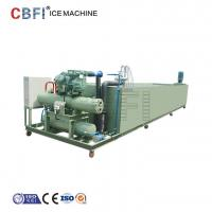 China Block Ice Maker Machine with Semi Hermetic Compressor Low Pressure Meters wholesale