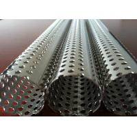 China Round Hole Stainless Steel Perforated Sheet Perforated Pipe Tube For Filter Cylinder wholesale