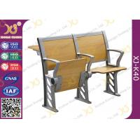 China Folded Three Person College Desk And Chair Set For Student wholesale