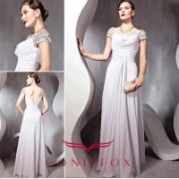 China gorgeous plus size mother of bride dresses,  pleated grey mother of bride dresses plus size wholesale