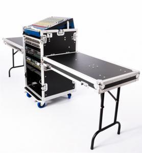 China 12U Black Anti-Shock Rack Aluminum Tool Cases Wheels For DJ wholesale