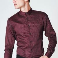 China Comfort Slim Fitlong Sleeve Office Shirts / Business Formal Shirts For Male on sale