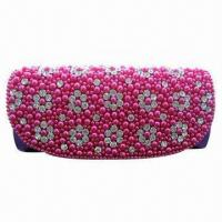 China Fully-jeweled Evening Bag with Elegant Crystal Diamond and Pearl Beaded Decoration, for Party Use wholesale