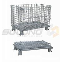 Buy cheap Fully Collapsible Wire Container Storage Cages Industrial Metal Baskets from wholesalers