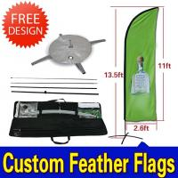 China Teardrop / Feather Flags Banner With 2.3kg Cross Base + Water Bag wholesale
