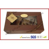 China Luxury Chocolate Color Packaging Gift Boxes , Top and Base Box With Window Package wholesale