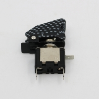 China 12V 20A Red LED Light SPST ON/OFF Rocker Toggle switch for Car Truck Boat with carbon fiber cap wholesale