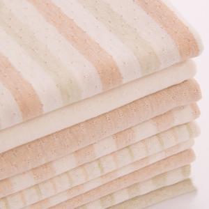 Wholesales Breathable 100% Organic Cotton Mesh Jacquard Muslin Baby Fabric