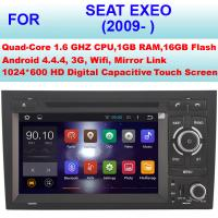 China OBD Internet 2009+ Seat Exeo Car Radio GPS , Double Din Car Stereo Bluetooth Sat Nav on sale