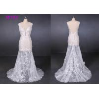 China Perspective Lace Female Wedding Dress Slim Sexy Small Tail Brides Wears wholesale