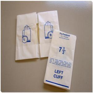 China Matt Plastic Film Glove Packaging Bags wholesale