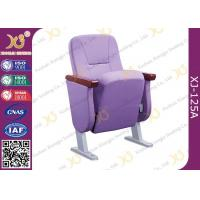 China Comfortable & Soft Auditorium Theater Seating With 60mm Armrest / Fully Coth Cover wholesale
