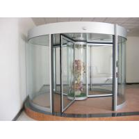 China Commercial Three wing automatic revolving door 150KG with central showcase wholesale