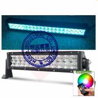 Quality Multi Color LED Car Light Bar 22 Inch 120W Bluetooth App / Wiring Harness Control for sale