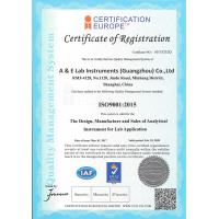 A & E Lab (UK) Co.,Ltd Certifications