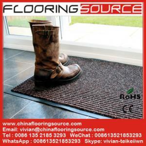 China Ribbed Carpet Floor Mat Stop Dirt Absorb Moisture Non Slip Rib Carpet Door Mat wholesale