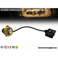 China 15000lux High Brightness LED Mining Light IP68 Waterproof Miners Cap Lamp wholesale