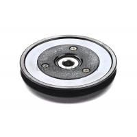 China Black Flanged Pulley Guide With Ceramic Coating / Bearing Wire Guide wholesale