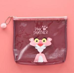 Buy cheap Logo Printing Pink PVC Transparent Bag , Cute Plastic Travel Makeup Zip Bag from wholesalers
