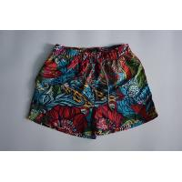 China Flower Athletic Swim Trunks  With Mesh Water Repellent Elastic Waistband wholesale