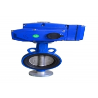 China Wafer Gear Type Large SS304 Manual Butterfly Valve wholesale