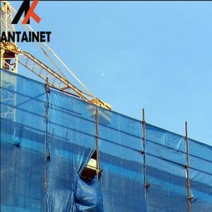 China Scaffolding Net HDPE Wind Protection Screen , Single Peak Wind Dust Net Mesh wholesale
