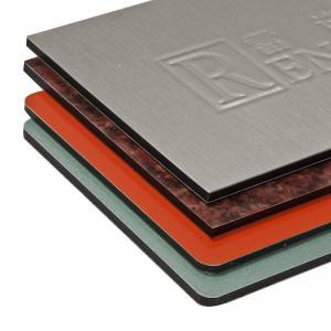 Quality Dark Bule Aluminum Sanwich Panel Titanium Zinc Plastic Composite Panel For Subway / Airport for sale
