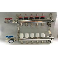China Russia Style Long  Flow Meter Radiant Heat Manifold With White Control wholesale