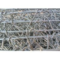 Reinforced Gabion Wire Mesh / Galvanized Wall Basket 60 * 80 Mm Hole Size