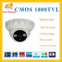 "China 1/3"" CMOS 1000TVL cctv system 2 ARRAY dome camera IR-CUT plastic Dome security Camera indoor outdoor CCTV Camera wholesale"