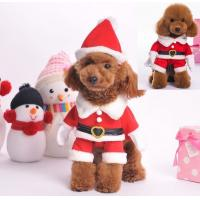 China Red Christmas dog clothes , large dog christmas costumes XS S M wholesale