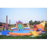 China 20m Giant Portable Inflatable Water Park Slide With Pool For Commercial Use on sale