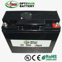 China Electric  Vehicles Waterproof Lithium Iron Phosphate Battery 12 Volt 20ah wholesale