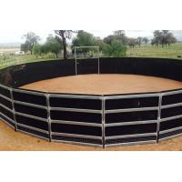 China Portable Horse Stall Panels  Heavy Duty 6 Oval Rail - Cattle Yards Horse Panels Round wholesale