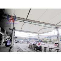 China Customized Tensioned Membrane Structures Carbon Steel Frame For Airport Access wholesale